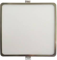 Светодиодная панель SLIM RIGHT HAUSEN HN-235018 6W 4000K квадратный сатин Код.55295