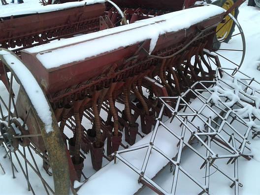 Сеялка анкерная зерновая 3,0 м с бороной б/у Польша, фото 2