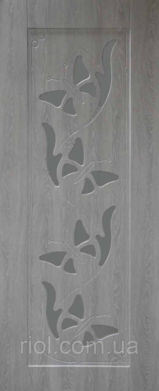 Дверь межкомнатная остекленная Бабочка