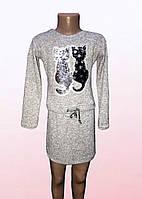 Платье для девочек с аппликацией из пайеток  2101/16