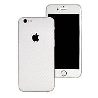 Белый Карбон на iPhone 6 и 6s Виниловые Декоративные Наклейки Скин Защитная Пленка под Carbon 3D Винил Стикер