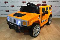 Детский электромобиль КХ 803 Hummer, два мотора, оранжевый