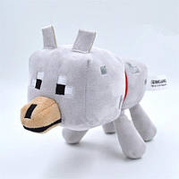 Cимпатичная мягкая плюшевая игрушка Minecraft Волк 20 см