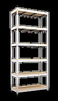 Стеллаж 2900х1200х600, 6 полок МДФ, 220 кг/полка, арт.2110 в гараж офис дом склад балкон дачу архив