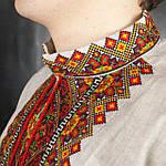 Праздничная мужская рубашка из домотканого полотна с вышивкой, фото 2