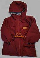 Куртка парку малюк на синтепоні, розмір 92-116, бордовий