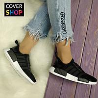 Кроссовки женские для бега adidas NMD, материал - текстиль, подошва - пена, черные