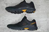 Мужские  кроссовки Columbia черные с желтым