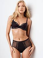 Трусики Victoria's Secret Mesh-side High-waist Cheeky Panty, Black (DL3)