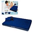 Надувной матрас Intex 68765 с двумя подушками и насосом (203*152*22 см) Сииний, фото 2