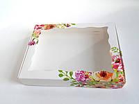 Коробка для кондитерских изделий 20х30х3 см Акварель_20х30
