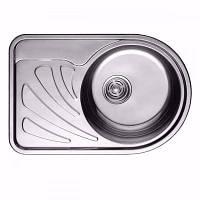 Мойка кухонная CRISTAL 668x442х180 , фото 1