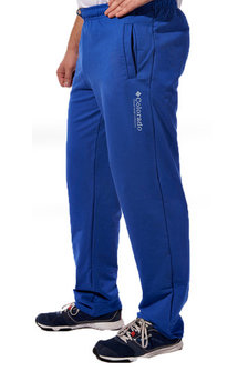 Спортивные брюки с логотипом Колорадо мужские трикотажные электрик синие прямые