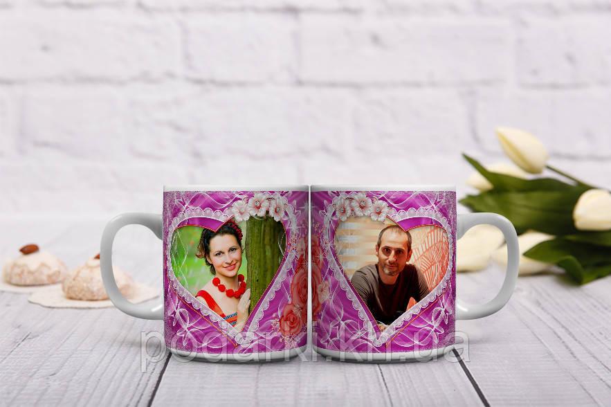 Чашки с фото на День влюбленных