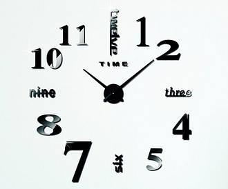 Декоративные часы наклейки на стену Travel black D=1м
