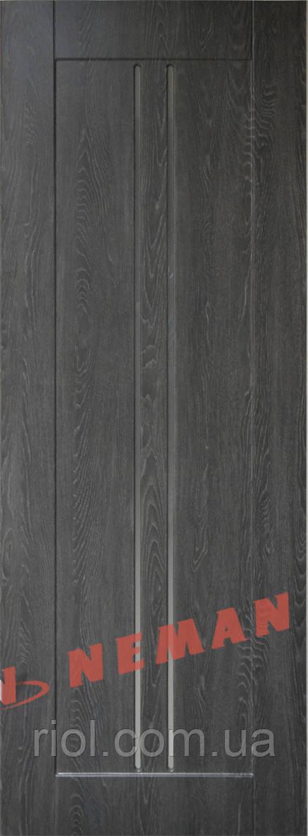 Дверь межкомнатная остекленная Гранд (Дуб-графит)