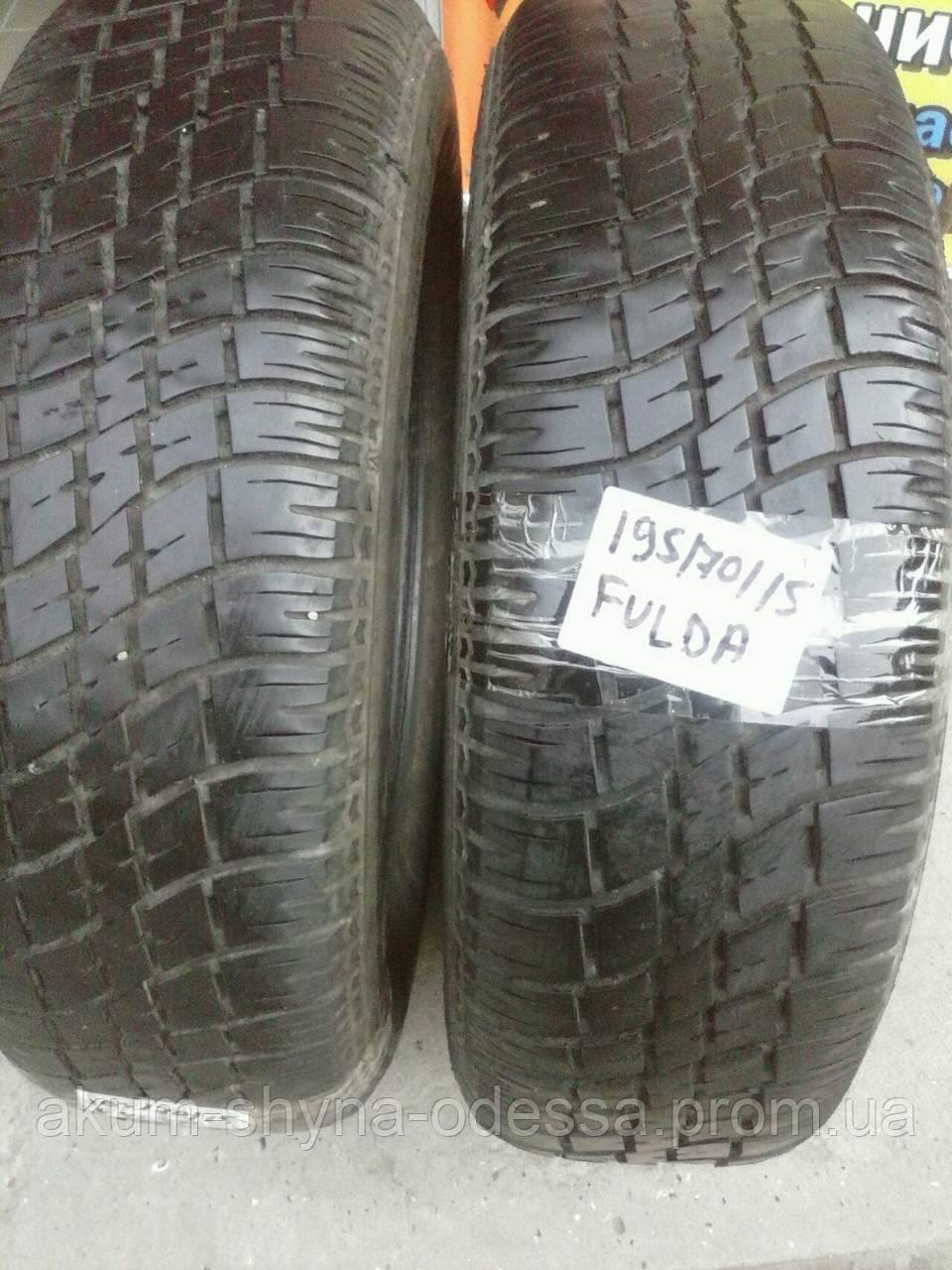 Шины летние б/у 195/70 R15 Fulda 2шт протектор 6+мм