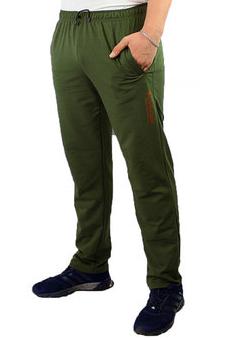 Спортивные брюки с логотипом Колорадо мужские трикотажные оливковые прямые