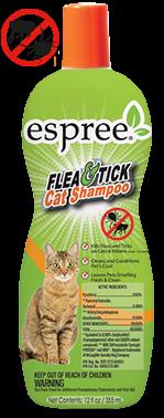 Espree Flea & Tick Cat Shampoo, 355 мл - шампунь от блох и клещей для кошек