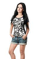 Женская камуфляжная футболка 500