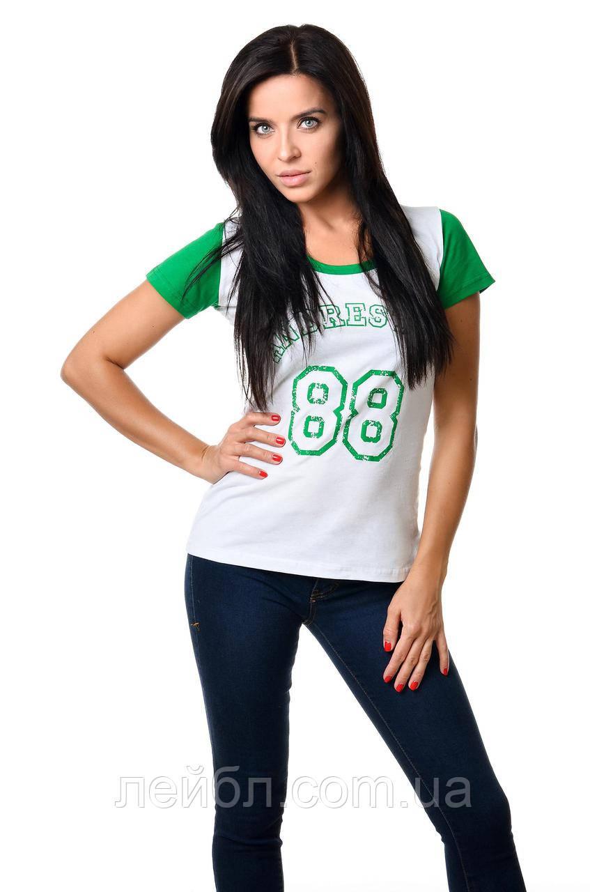 Футболка женская 2603 - зеленый