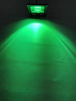 Светодиодный линзованый прожектор SL-20Lens 20W зеленый IP65 Slim Код.59186, фото 2