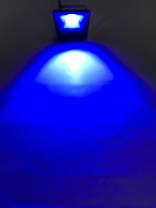Светодиодный линзованый прожектор SL-20Lens 20W синий IP65 Slim Код.59187, фото 2