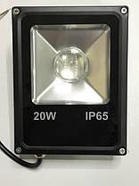 Светодиодный линзованый прожектор SL-20Lens 20W синий IP65 Slim Код.59187, фото 3