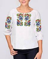 Заготовка вишиванки жіночої сорочки та блузи для вишивки бісером Бисерок « Барвиста» (Б- e2f0d9d3697c5