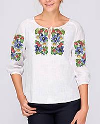 Заготовка вишиванки жіночої сорочки та блузи для вишивки бісером Бисерок «Барвиста» (Б-24 ГБ) Габардин