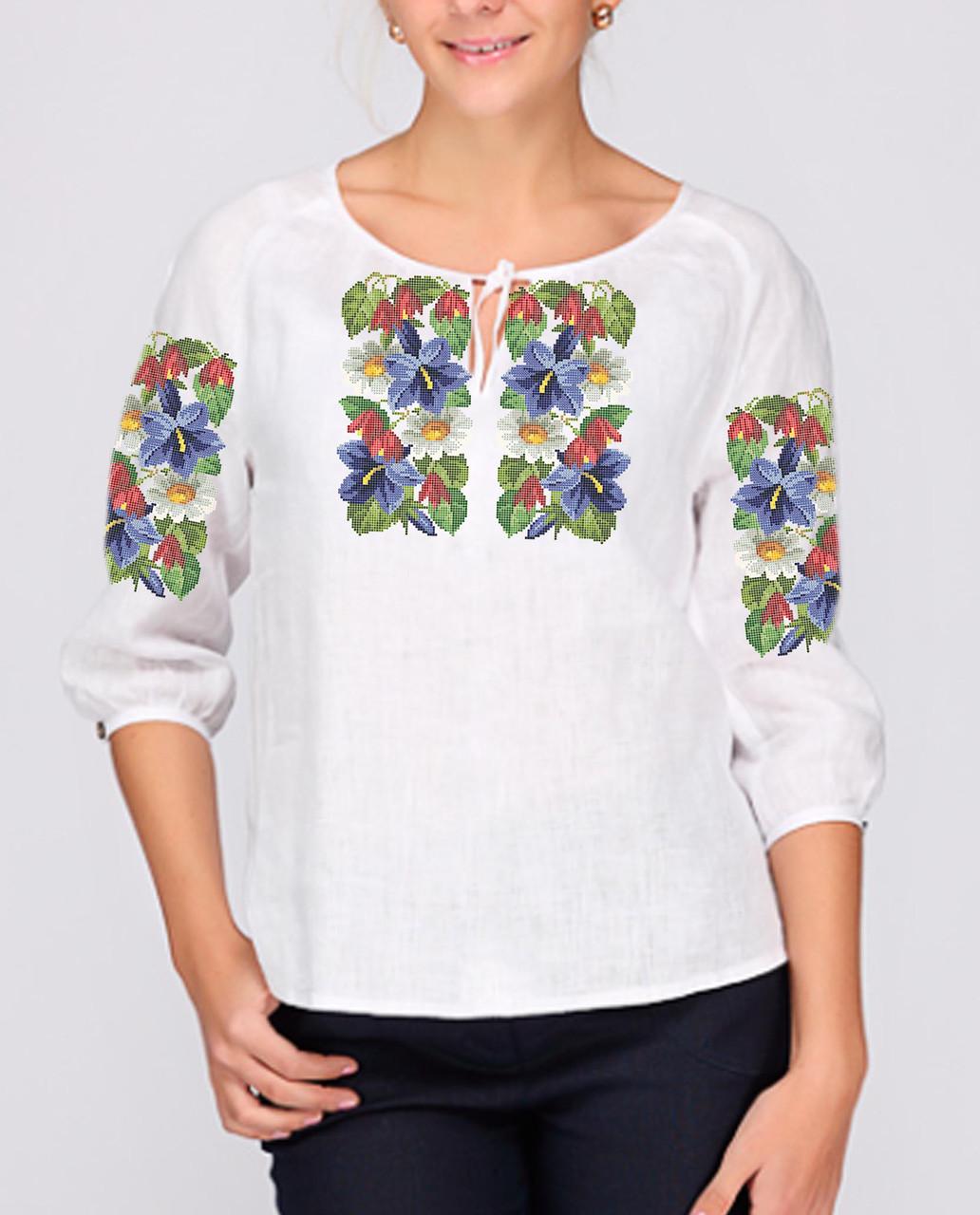 Заготовка вишиванки жіночої сорочки та блузи для вишивки бісером Бисерок «Барвиста» (Б-24 )