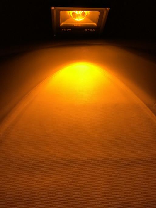 Светодиодный линзованый прожектор SL-20Lens 20W желтый IP65 Slim Код.59188