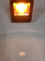 Светодиодный линзованый прожектор SL-20Lens 20W желтый IP65 Slim Код.59188, фото 2