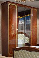 Шкаф 4Д Венеция Новая пино орех (Світ Меблів TM)