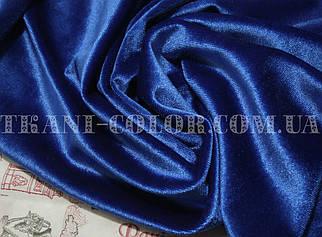 Тканина оксамит стрейч синій элетрик