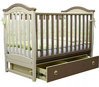 Детская кроватка Верес Соня ЛД-3 Капучино (ящ.+ маят.) декор. 03.1.10