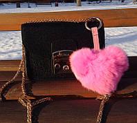 Сердце - брелок Luxury. Розовый.