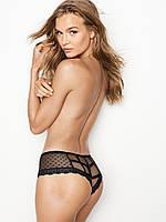 Трусики Victoria's Secret Dot Mesh Caged Cheeky Panty,Black (DL3) , фото 1