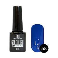 Однофазный гель-лак TNL, № 58 (тёмно-синий), 6мл