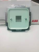 Центральная плата с суппортом для телефонной розетки АВВ Spring зелёный