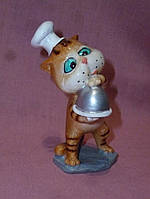 Кот рыжый полосатый повар статуэтка 10 сантиметров высота