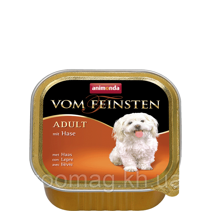"""Консервы Vom Feinsten """"С кроликом"""" 10,5/4,5 (для взрослых собак), 150г"""
