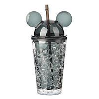 Бутылка Микки Маус Ice Cup 450 мл. Черная