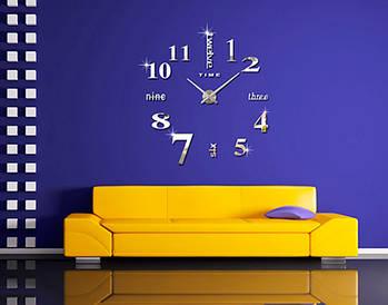 Декоративные часы наклейки на стену Travel white D=1м