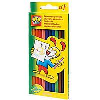 Набор цветных карандашей 12 цветов Ses (0224S)