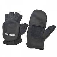 Перчатки Fishing ROI рыбацкие (черные)