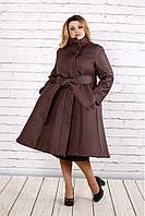 Пальто з поясом для пишних дам, з 42-74 розмір, фото 1