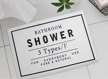 Мягкий, впитывающий коврик в душ