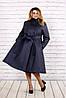 Пальто з стьобаної плащової тканини для пишних дам, з 42-74 розмір