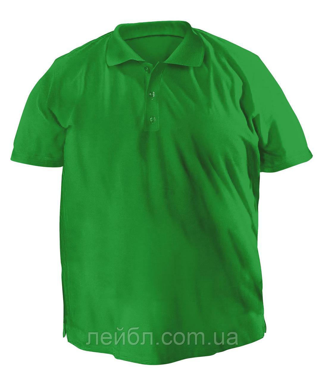 Футболку Polo большая - 7022 зеленый